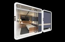 寝台列車イメージの上級カプセルホテル 17年秋、JR西日本とファーストキャビン合弁で