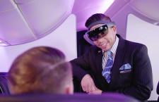 ニュージーランド航空、CAにMS「ホロレンズ」 乗客の情報表示
