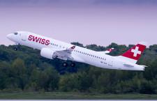 スイス国際航空、CS300初号機受領