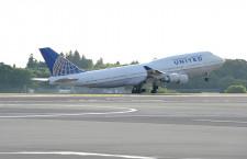 ユナイテッド航空の747、成田から日本最終便 サンフランシスコ行き