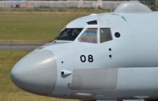 P-1、パリ航空ショー終え離陸 自衛隊機初の出展