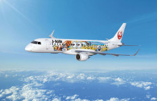 JAL、E190「ミニオンジェット」7月就航 USJ特別塗装機
