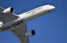 エアバス受注9機、納入74機 20年4-6月期