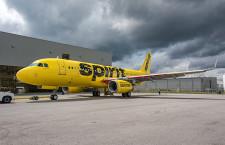 スピリット航空、米国製A320初号機受領