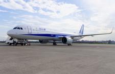 低燃費大型エンジンは直径2メートル 写真特集・ANA A321neo初号機(外観編)