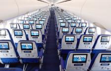 各席に個人モニターや電源装備 写真特集・ANA A321neo初号機(機内編)
