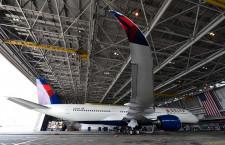 デルタ航空、成田でA350とA330neo使用前整備 トゥールーズから飛来