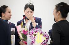 JAL、成田空港の接客No.1に松野さん 地上係員の全国大会進出