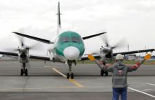 HAC、緑色旧塗装ラストフライト 鶴丸に統一