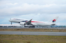 マレーシア航空、A350初号機受領 ロンドン線投入