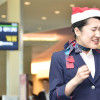 JAL、フラッシュモブでアカペラ 羽田でクリスマスイベント