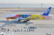 ANA、富士山や東京タワー描いた777就航 東京五輪向け特別塗装機