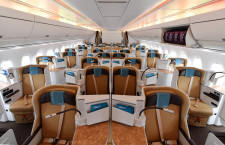 A350-1000試験機の機内 写真特集・シンガポール航空ショー2018(1)
