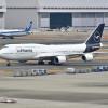 ルフトハンザ新塗装747-8、羽田初飛来