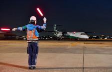 緑色のANA機「エコボン」が運航終了 7年で再塗装、青色に