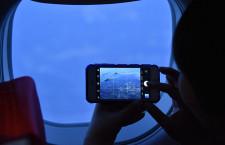 FDA、白い12号機で「ホワイトデーフライト」 紀伊半島にハート描く