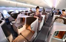 シンガポール航空、787-10公開 新シート採用、5月に関空就航