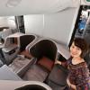 隣り合うベッドになる中央席 写真特集・シンガポール航空787-10 日本初公開(ビジネスクラス編)