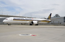 777-200より長い最新787 写真特集・シンガポール航空787-10 関空就航