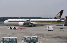 シンガポール航空の787-10、成田就航 開港40周年に華添える