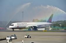 エア・カナダ、成田-モントリオール就航 初の定期便