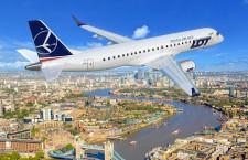 LOTポーランド航空、ロンドン・シティ就航へ 19年1月、E190導入