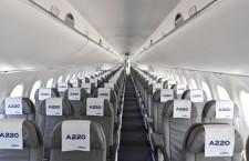 2席+3席でゆとりある客室 写真特集・A220-300お披露目