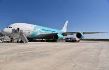 ハイフライのA380、ファンボロー地上展示