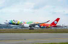 四川航空、A350初号機受領 パンダをデザイン