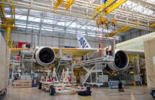 ANAのA380、エンジン取り付け完了 19年春に就航