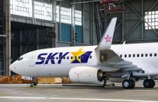 日本らしさサクラで表現 写真特集・スカイマーク新737-800