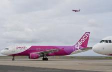 ピーチ、ソウル・上海便の運休拡大 19日から台北復便も