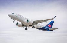 青島航空、A320neo初号機受領 PWエンジン搭載