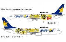 スカイマーク、3代目タイガースジェット12月就航 トラが最大級