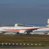 次期政府専用機、成田に初飛来
