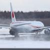 雪景色広がる千歳にランディング 写真特集・次期政府専用機2号機到着