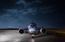 エア・アスタナ、E190-E2導入 同社向け初号機、機首にユキヒョウ