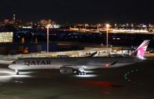 カタール航空、羽田にA350-1000 初の商業運航
