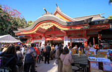 青島神社へ初詣 写真特集・平成最後の初日の出フライト(ソラシド編)