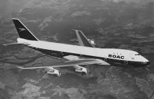 ブリティッシュエア、BOAC塗装の747 23年退役まで