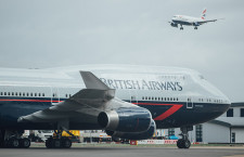 ブリティッシュエアの747、80年代塗装復刻 ランドーデザイン機就航