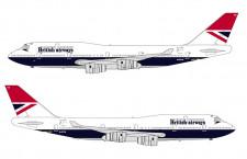 ブリティッシュエア、747に合併時デザイン 復刻4号機、22年まで