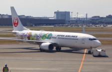 JAL、しまじろうジェット第2弾就航 8月末まで国内線