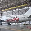 JAL、ラグビー応援の特別塗装機 国内線767、12月まで