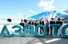 ANA、A380初受領 総2階建て、5月から成田-ホノルル線