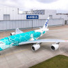 ANAのA380、深緑の2号機お披露目 7月就航