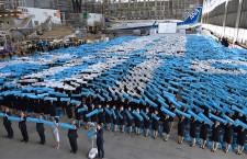 片野坂社長、新入社員と「安全がすべて」3回復唱 ANA、19年度入社式
