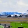 ホノルルにA380到着 ANA「空飛ぶウミガメ」ハワイ初飛来、地上施設確認