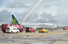 SPRING、成田-寧波就航 新デザイン機で初便