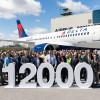 エアバス、納入1万2000機到達 デルタ航空にA220